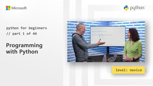 Python for Beginners(微软官方视频课程)