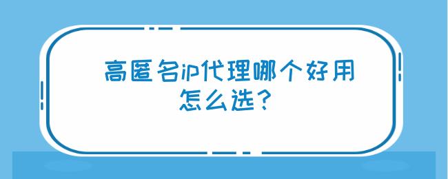 高匿名ip代理哪个好用,怎么选?.png